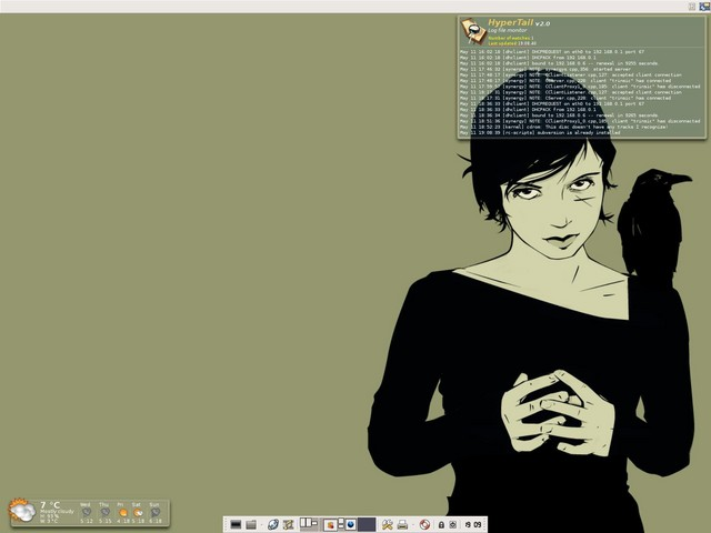 XFCE4 with gDesklets running on Gentoo 2005.0