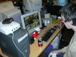 AmiDelf Playing Dreamcast
